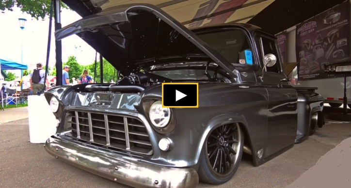 1956 chevy pick up truck sinister build