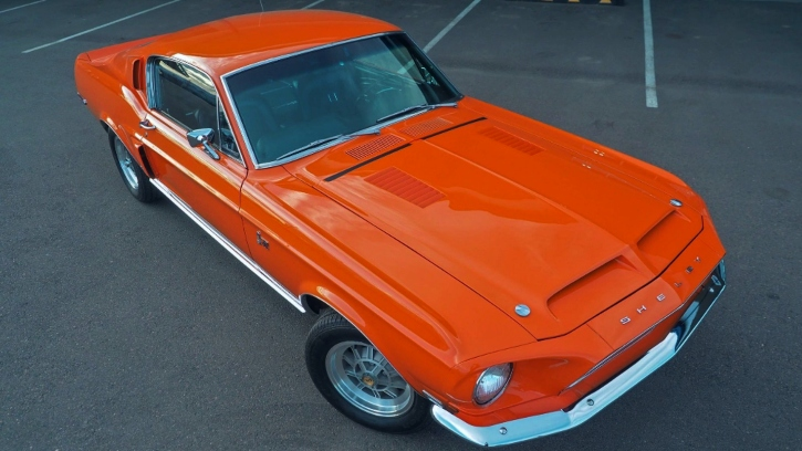 1968 shelby gt500kr in special orange