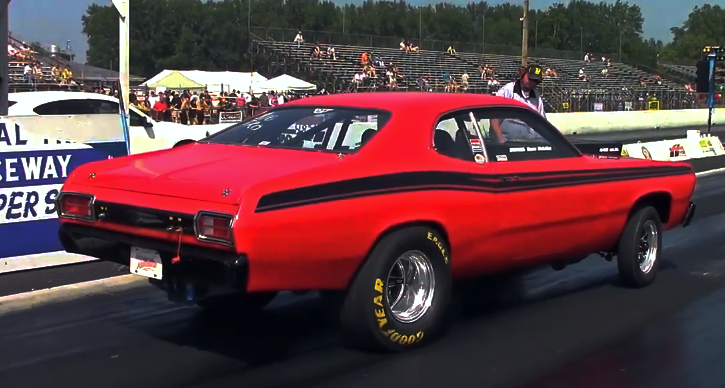 11 second plymouth duster 1/4 mile pass
