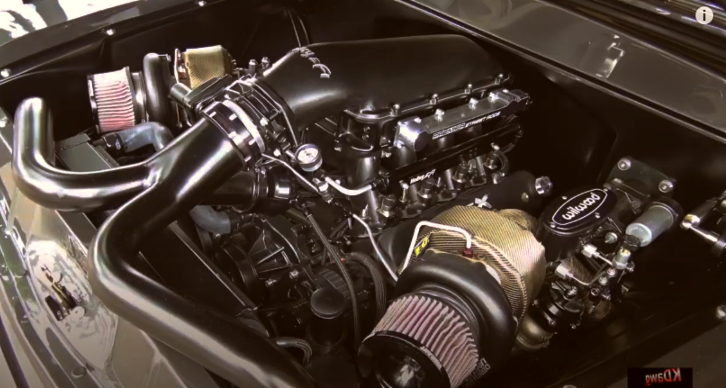 sinister 1956 chevy truck engine