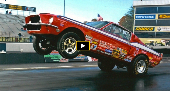 1968 ford mustangs drag racing