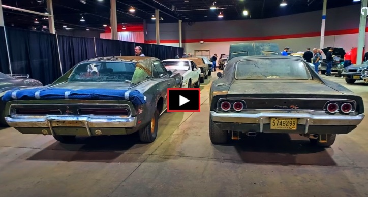 barn find dodge hemi charger 4-speed cars