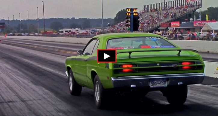 plymouth duster 1/4 mile drag racing
