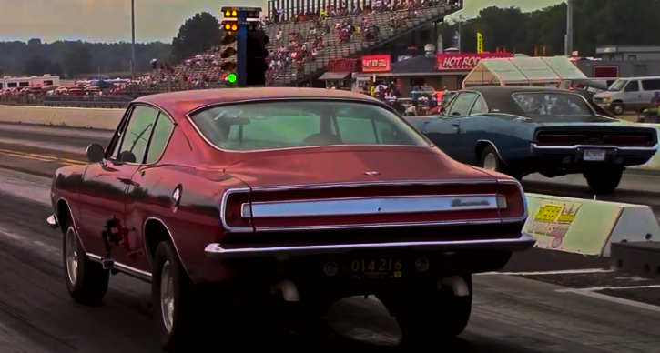 plymouth barracuda vs dodge charger 1/4 mile