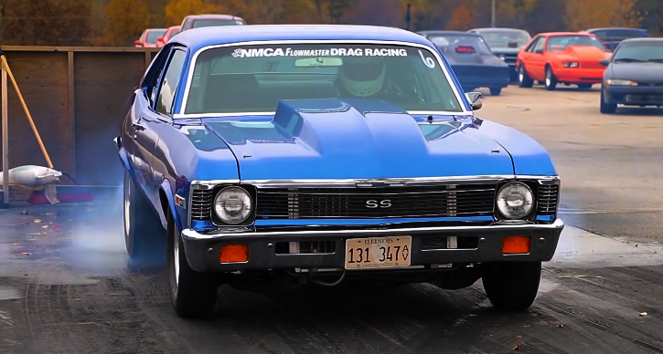 1971 chevy nova drag racing