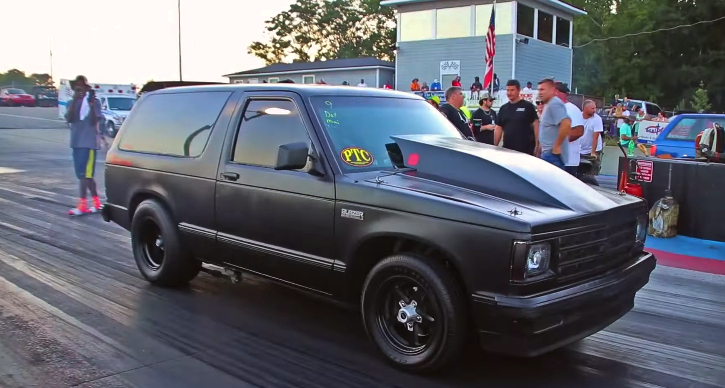 nitrous chevy s10 drag racing