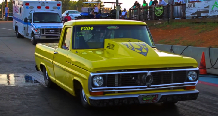 ford f100 truck drag racing