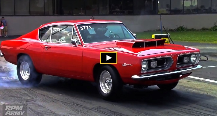 a body plymouth barracuda drag racing