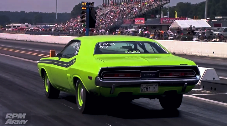 1971 dodge hemi challenger 1/4 mile pass