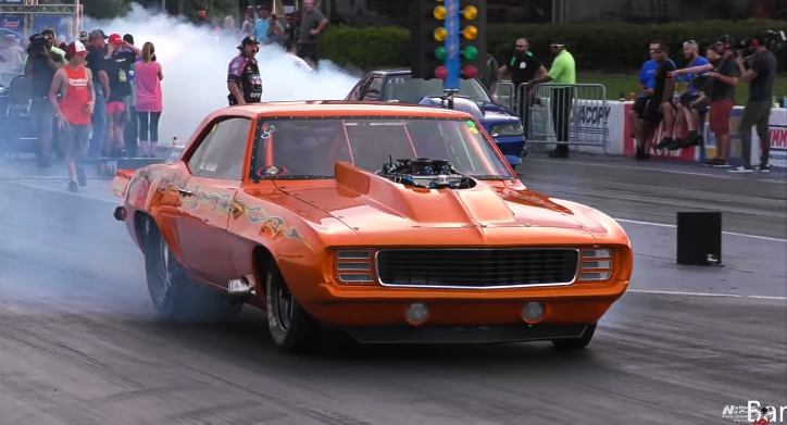 nos boss 1969 camaro drag racing