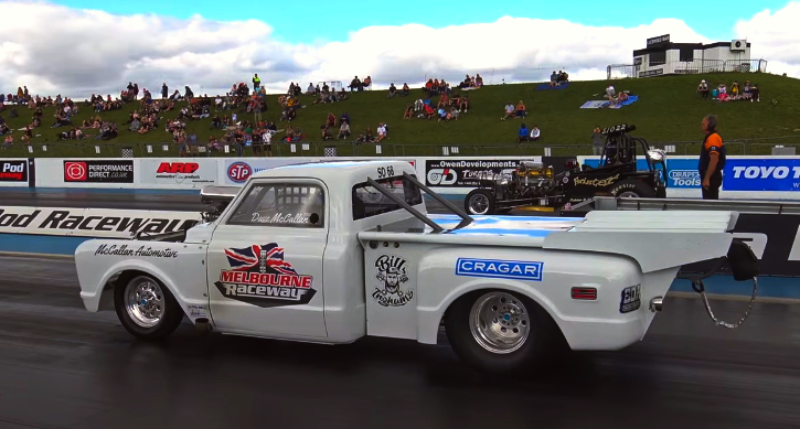 1968 chevy c10 drag racing