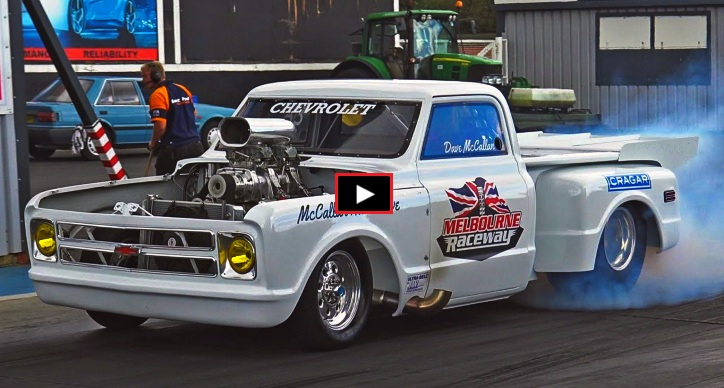 9 second big block chevy truck