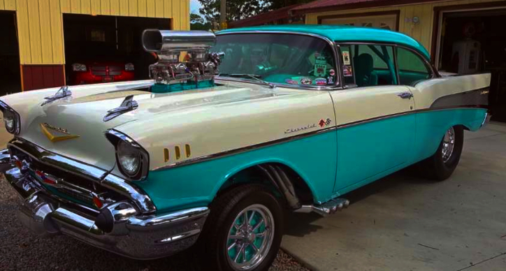 big block 57 chevy bel air build
