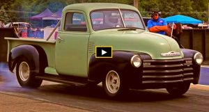 inline 6 chevy 3100 drag racing at byron