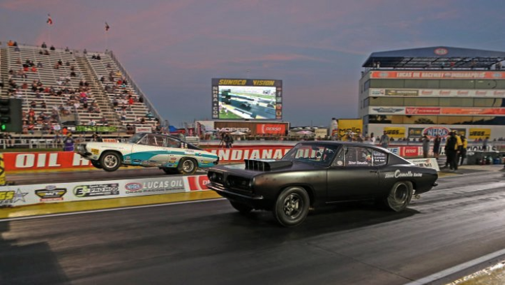 1968 plymouth hemi barracuda drag racing