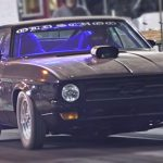 old school ford mustang street drag racing