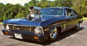 blown 454 big block chevy nova pro street