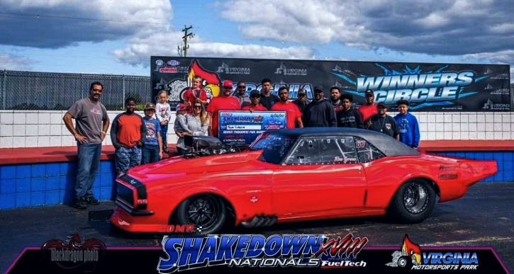 blown 1968 chevrolet camaro new record