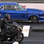 ford mustang drag racing motorcycle