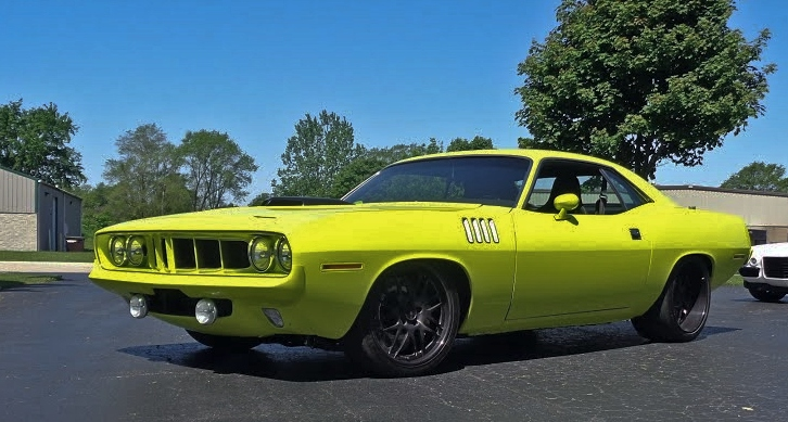supercharged 1971 plymouth hemi cuda