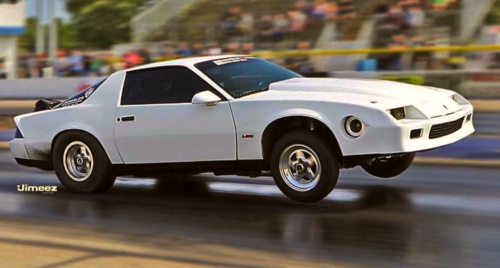 third generation camaro drag racing