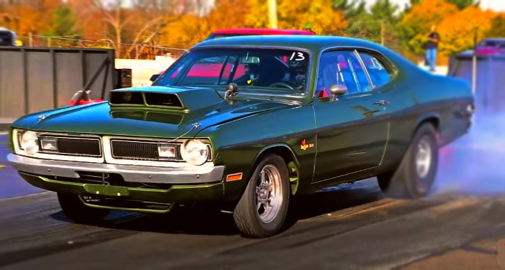 8 second 1971 dodge demon 540 drag racing