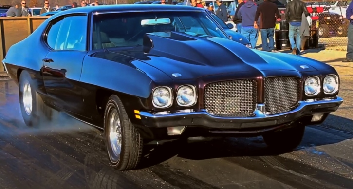 pontiac lemans 455 v8 drag racing