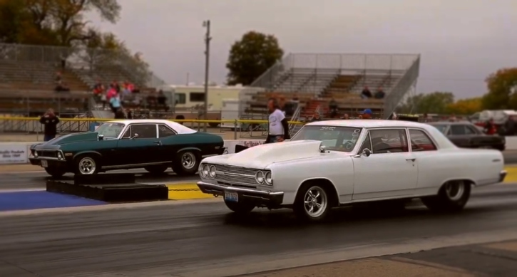 big block chevy muscle cars 1/4 mile drag race