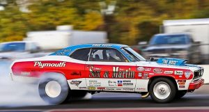 sox & martin tribute plymouth duster drag racing
