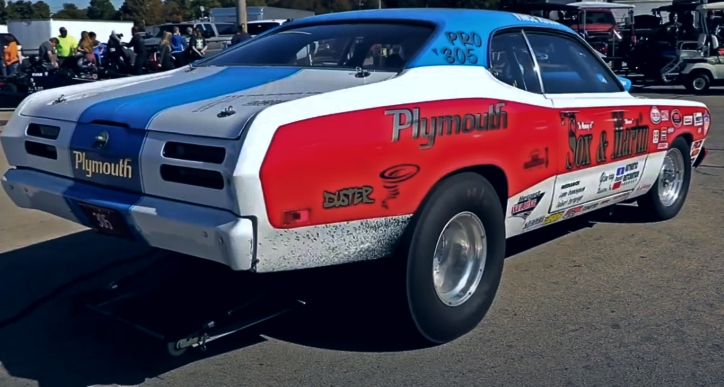 vince russo pro stock plymouth duster