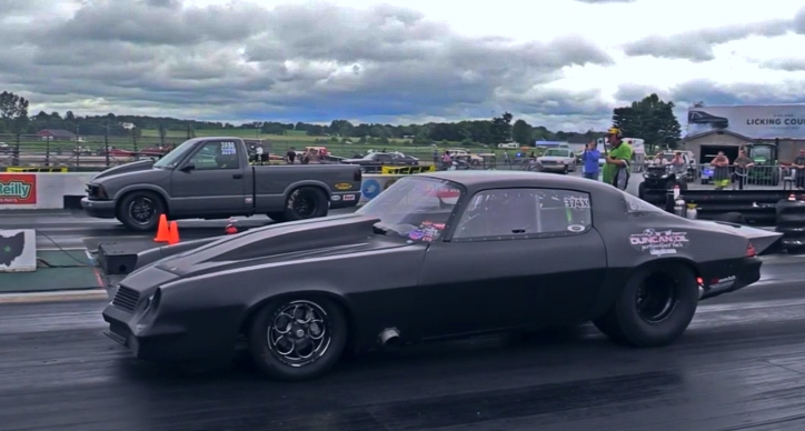 second generation chevy camaro drag racing at JEGS