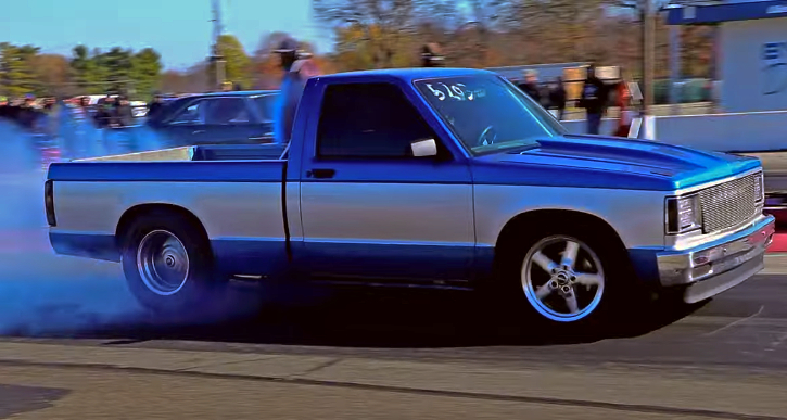 twin turbo ls chevy truck drag racing