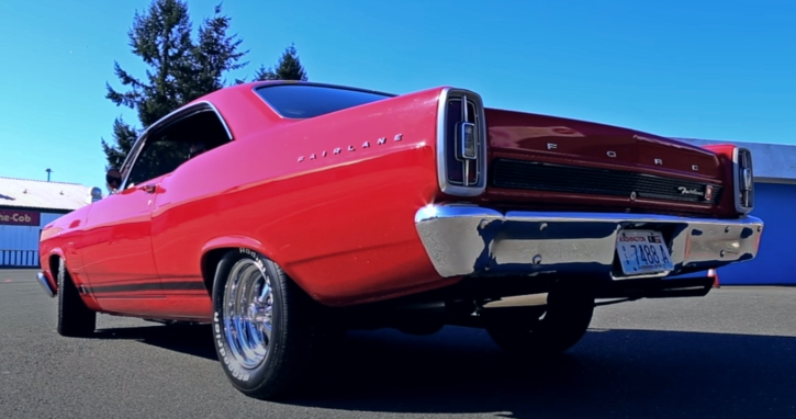 red ford fairlane gt