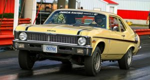 1970 chevy yenko nova 1/4 mile drag racing