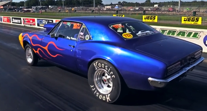 old pontiac firebird drag car