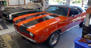 family owned pair of 1969 chevrolet camaros