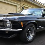 1970 mustang mach 1 in raven black