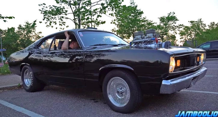 blown 1970 plymouth duster v8 sound