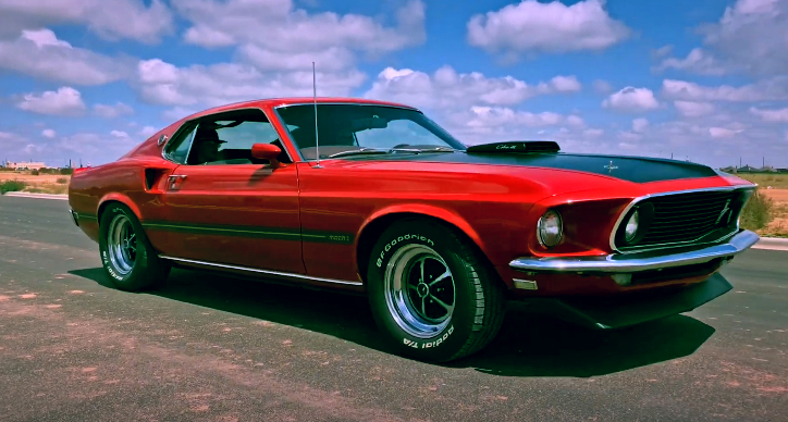 r code 1969 ford mustang mach 1