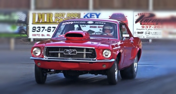 11 second ford mustang coupe drag racing