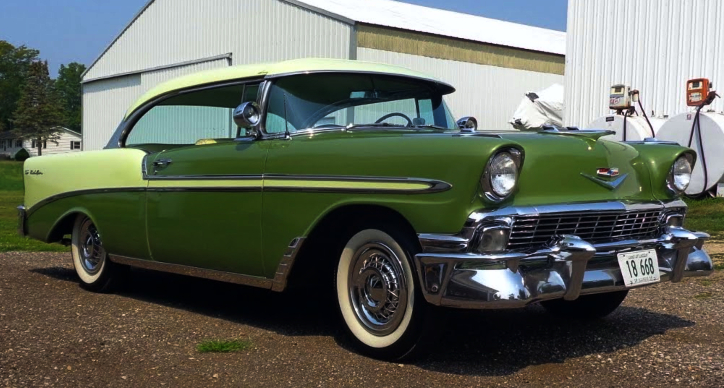 highly optioned 1956 chevy bel air