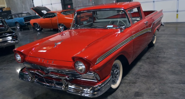 supercharged 1957 ford ranchero truck